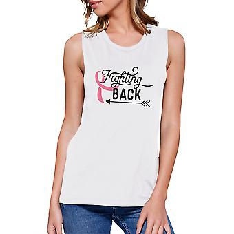 Fighting Back Arrow Women Breast Cancer Support Workout Tank Top
