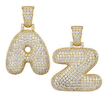 Premium Bling 925 colgantes plata esterlina letra A la Z