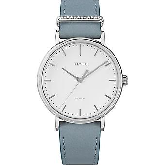 Timex ladies watch Fairfield Crystal 37 mm leather bracelet TW2R70300