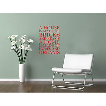 A house is made of Wall Art Sticker - Tomato Red
