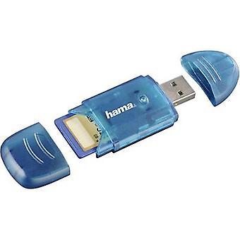 Hama 114730 External memory card reader USB 2.0 Blue