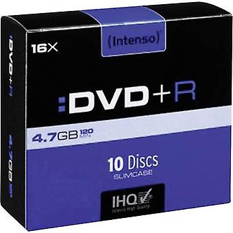 En blanco DVD + R 4.7 GB Intenso 4111652 10 caja Slim de PC
