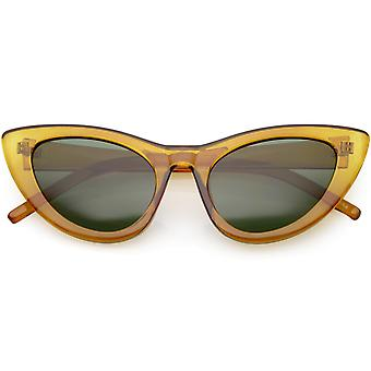 Oversize Cat Eye Sunglasses Tapered Arms Neutral Colored Lens 49mm