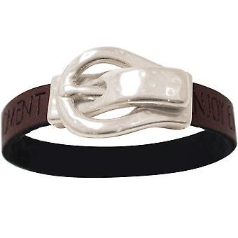 Gemshine - Damen - Armband - WISHES - Braun - Dunkel - Gürtel - Schnalle - Magnetverschluss