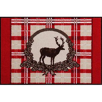 Red Deer 50 x 75 cm tvättbar golvmatta salong Loewe