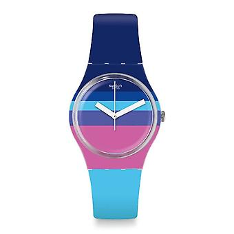 Swatch Ge260 Azul'heure Multi Colour Silicone Watch