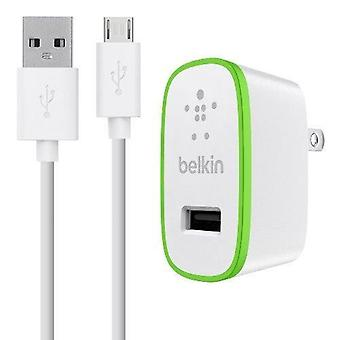 Belkin 2. 1 a Home Charger w / 4' Cable Micro USB - blanc