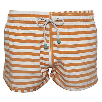 Oiler & Boiler Limited Edition Swim Shorts, Orange Stripes