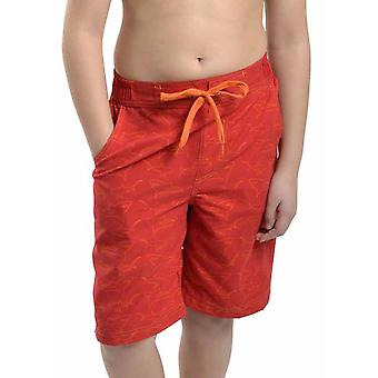 Boys Tom Franks Shark Print Summer Beach Swim Pool Shorts With Mesh Liner