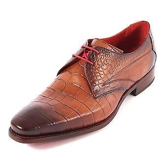 Jeffery West Men's Hunger Howl Leather Lace Up Shoe Shadow Crust Mahogany