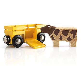 Brio 33406 Cow and Wagon