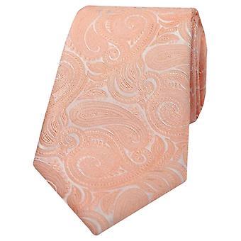 Cravatta con motivo cachemire di David Van Hagen - Peach