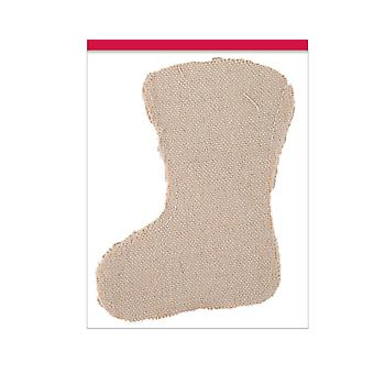 SALE - 4 Small Natural Canvas Fillable Christmas Stockings for Crafts