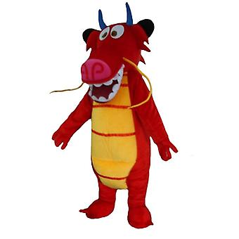 mascot SPOTSOUND of Mushu, the famous red dragon of the cartoon Mulan