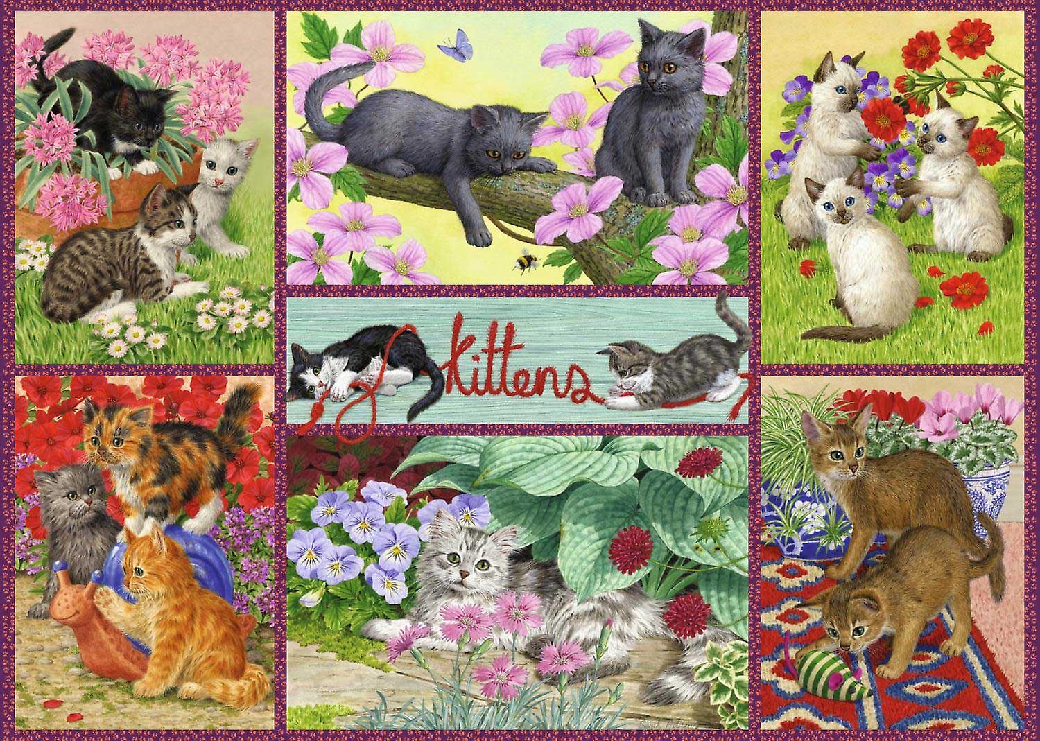 Falcon Deluxe Playful Kittens Jigsaw Puzzle (500 Pieces)