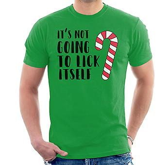 Its Not Going To Lick Itself Christmas Men's T-Shirt