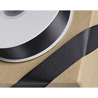 38mm Black Satin Ribbon for Crafts - 25m | Ribbons & Bows for Crafts
