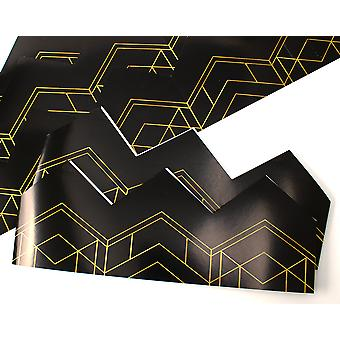 Black & Gold Art Deco Adjustable Paper Hats for Crackers - 10 or 25 Pack
