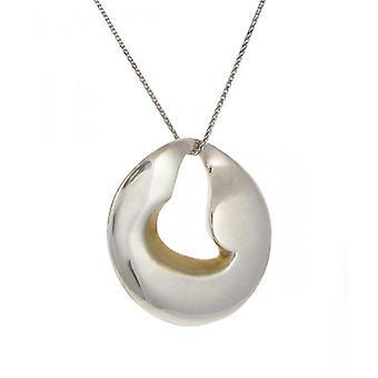 Cavendish francuski srebrny i złoty wisiorek dysku vermeil serce bez łańcucha