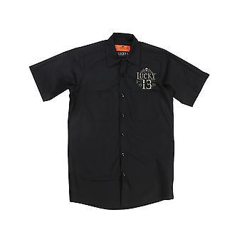 Lucky 13 men's short-sleeved shirt of Los Muertos