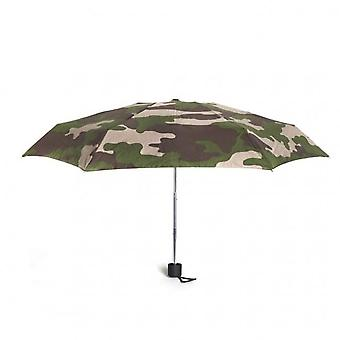 Kikkerland Compact Mini Camo Rain Umbrella Folding Pocket Brolly 15.5cm Folded