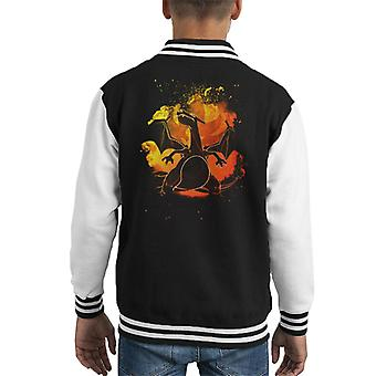 Soul Of Charizard Pokemon Kid's Varsity Jacket