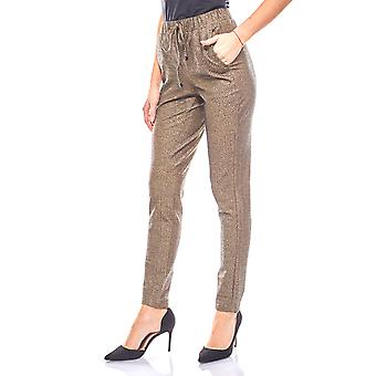Ashley brooke elegant ladies sweatpants with gloss effect gold