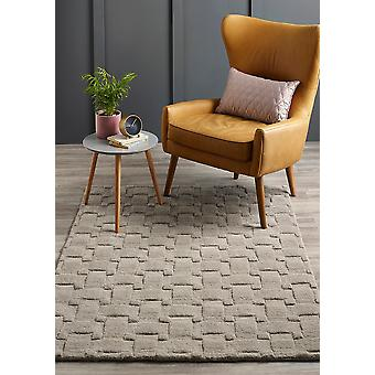Basket Weave 3D Silver  Rectangle Rugs Plain/Nearly Plain Rugs
