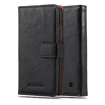 Cadorabo Hülle für Nokia Lumia 640 - Handyhülle im Luxury Design mit Kartenfach und Standfunktion  - Case Cover Schutzhülle Etui Tasche Book