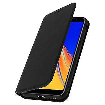 Slim Case, Classic Edition stand case with card slot for Galaxy J4 Plus - Black