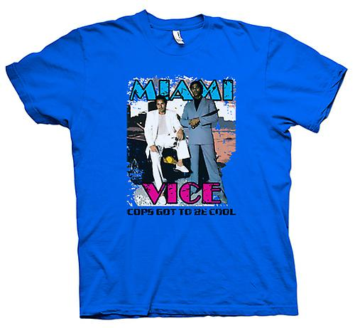 Mens T-shirt - Miami Vice - Cool Cops - Cult - TV