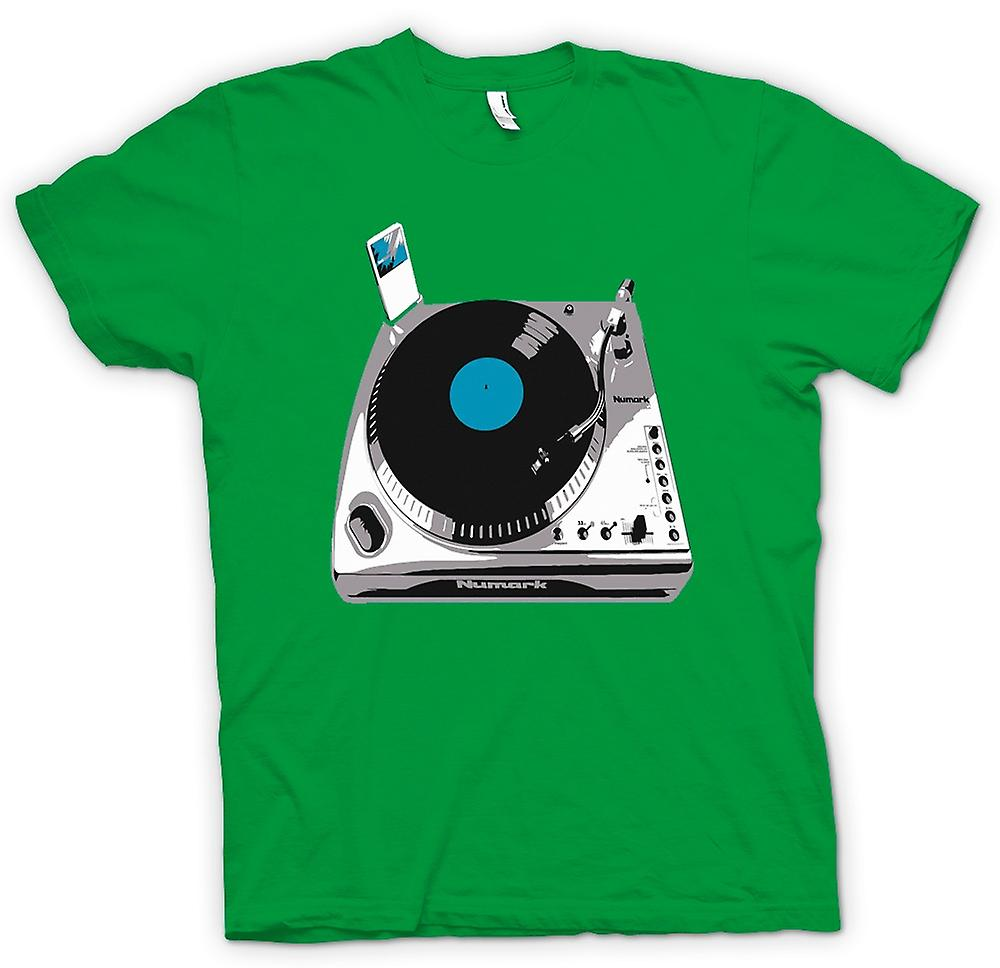 Mens T-shirt-DJ iPod Decks