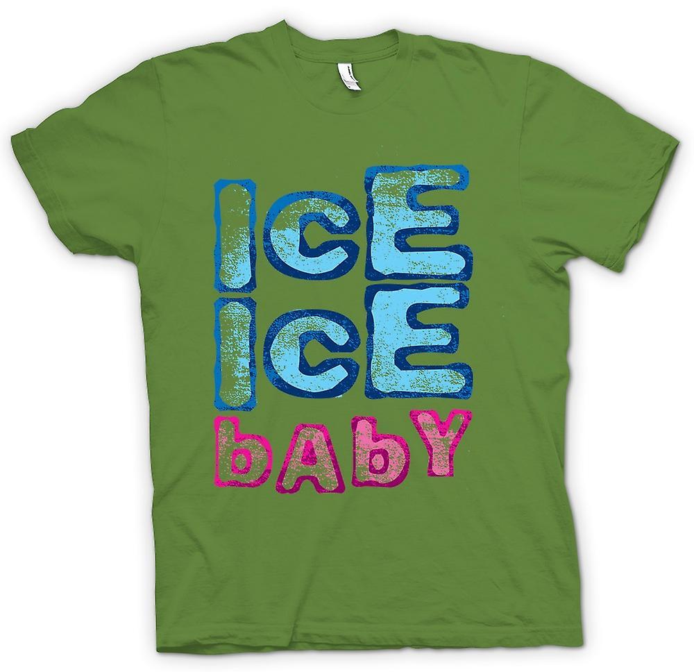 Mens T-shirt - Vanilla Ice - Ice Ice Baby - Funny
