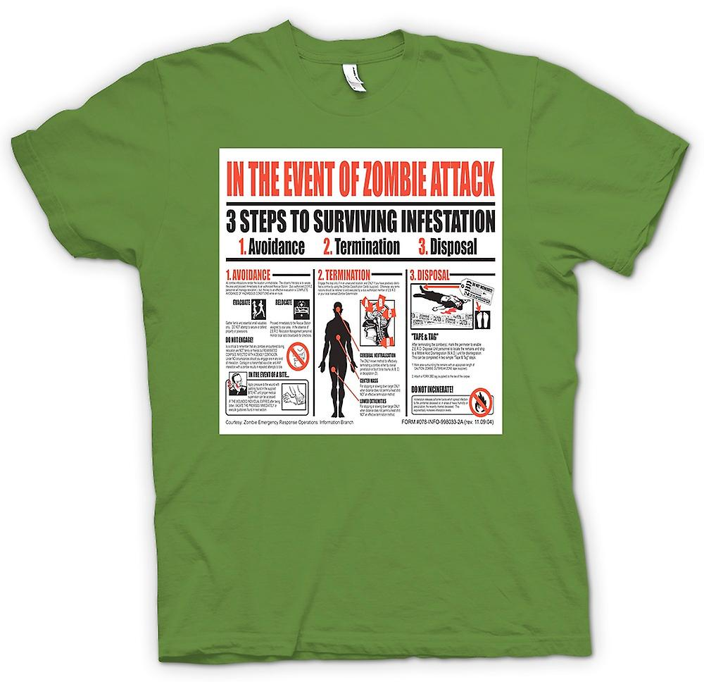 Mens T-shirt - Zombie Infestation - Survival Poster