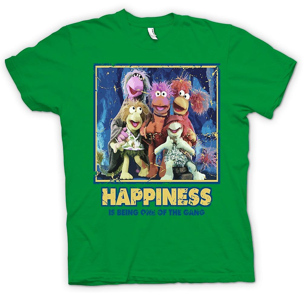 Heren T-shirt - geluk Is Being One Of The Gang - Fraggle Rock geïnspireerd