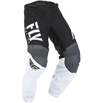 Fly Racing Black-White-Grey 2019 F-16 Kids MX Pant