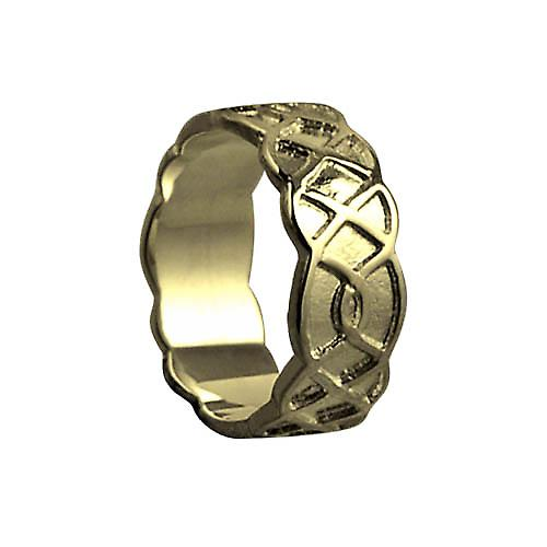 18ct Gold 8mm Celtic Wedding Ring Size Q