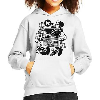 Classic Turntable Cartoon Character Kid's Hooded Sweatshirt