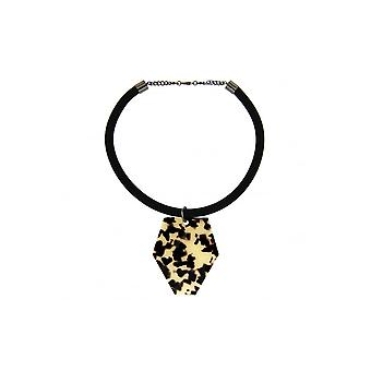 Sweet Deluxe Circular Necklace With Printed Plate Detail