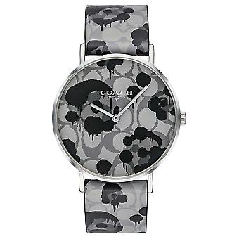 Coach | Womens Perry | Grey Leather Strap Floral Design | 14503248 Watch