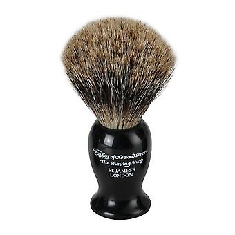 Taylor of Old Bond Street Badger Hair Shaving Brush - Black Small