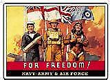For Freedom army / navy / air force steel fridge magnet