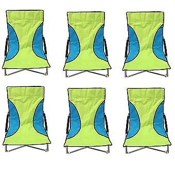 6 zielony Nalu składane niskie siedzenia krzesło Camping leżaki