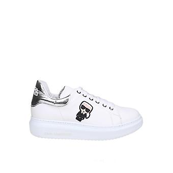 Karl Lagerfeld White Leather Sneakers