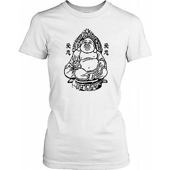 The Golden Belly - Funny Big Buddha Ladies T Shirt