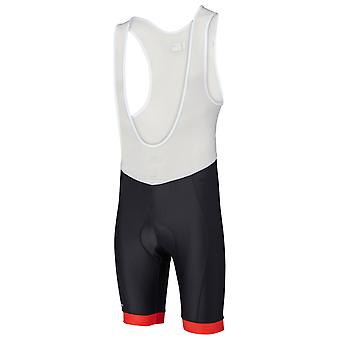 Madison svart-Flame røde Peloton Bib Shorts