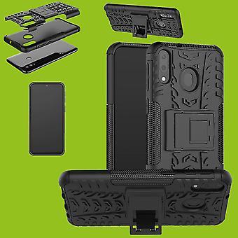 Voor Samsung Galaxy A50 6.4 inch hybride case 2 stuk SWL buiten zwarte tas gevaldekking van bescherming