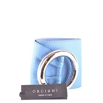 Correa de cuero azul de luz Orciani