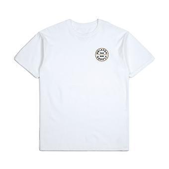Brixton Oath T-Shirt White Bronze