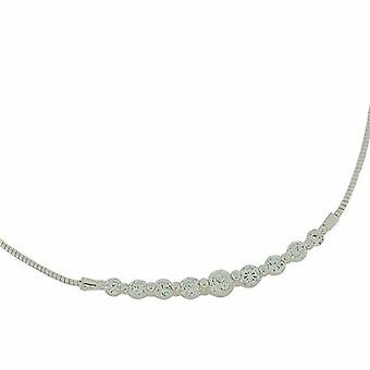 The Olivia Collection Sterling Silver Cz Omega Collarette Necklace